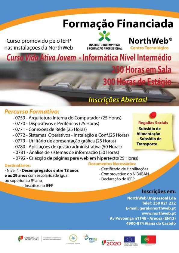 Curso para melhorar as competências de informatica, ao nível das componentes, periféricos e softwares.