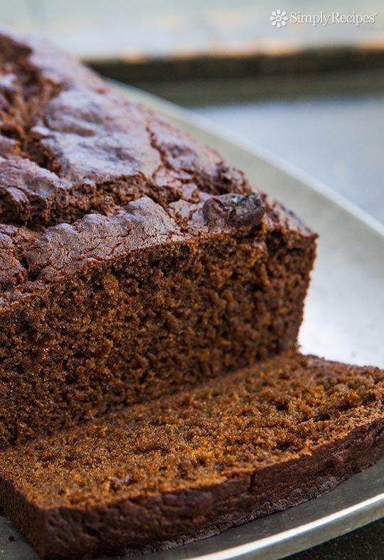 ... gingerbread made with pumpkin purée, flour, butter, ginger, molasses