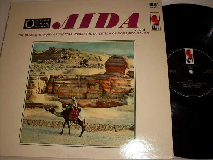 Aida Verdi - The Rome Symphony Orchestra Under the Direction of Domenico Saving - Stereo