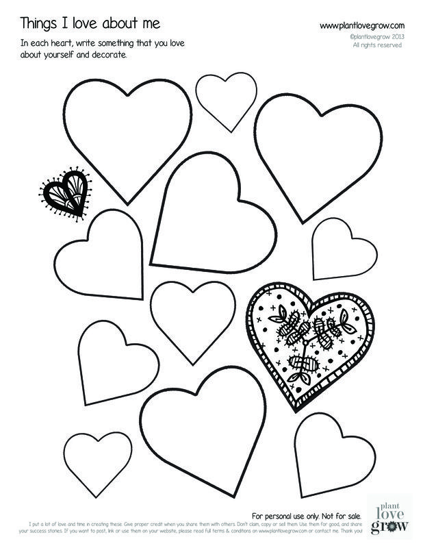 My Love For You Keeps Growing Coloring Page