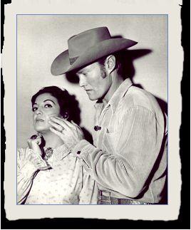 Con El hombre del rifle, Chuck Connors - Katy muchas veces, hacía empalidecer a su co-estrella de turno, con su fuerte personalidad daba la impresión de ser ella, quien siempre dominaba la escena