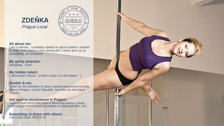 Thousands of everyday women have already discovered the art of #PoleDancing and other fun and creative dance fitness classes. Women who try pole dancing lessons are instantly hooked as they experience the many positive physical and emotional benefits of learning to pole dance. Experience the fun of pole dance in #Prague with our #Local Zdeňka. She is thrilled to share her stories and tricks! http://goo.gl/VTlaj5
