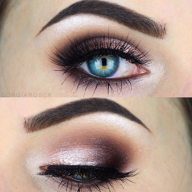 Stunning look by✨@georgiarosex✨ wearing our Pixie Luxe lashes✨ MAKEUP DETAILS▼ Eyeshadow @makeupgeekcosmetics Peach Smoothie for a transition shade, Latte in the crease, Mocha for the outer v into the crease and lower lash line. @urbandecaycosmeticsDemolition eyeliner in the waterline smudged down. @anastasiabeverlyhillsRich Velvet for the outer v and outer lower lash line, Pink Champagne mixed with Mac Fix+ on the lid, Shimma Shimma by @makeupgeekcosmetics