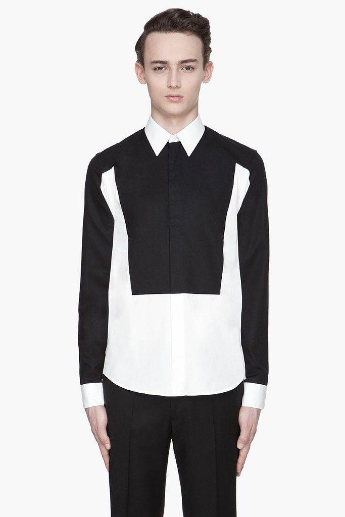 Контрастные чёрно/белые мужские рубашки
