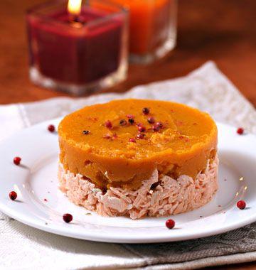 Hachis parmentier au saumon, patate douce et curry - Recettes de cuisine Ôdélices