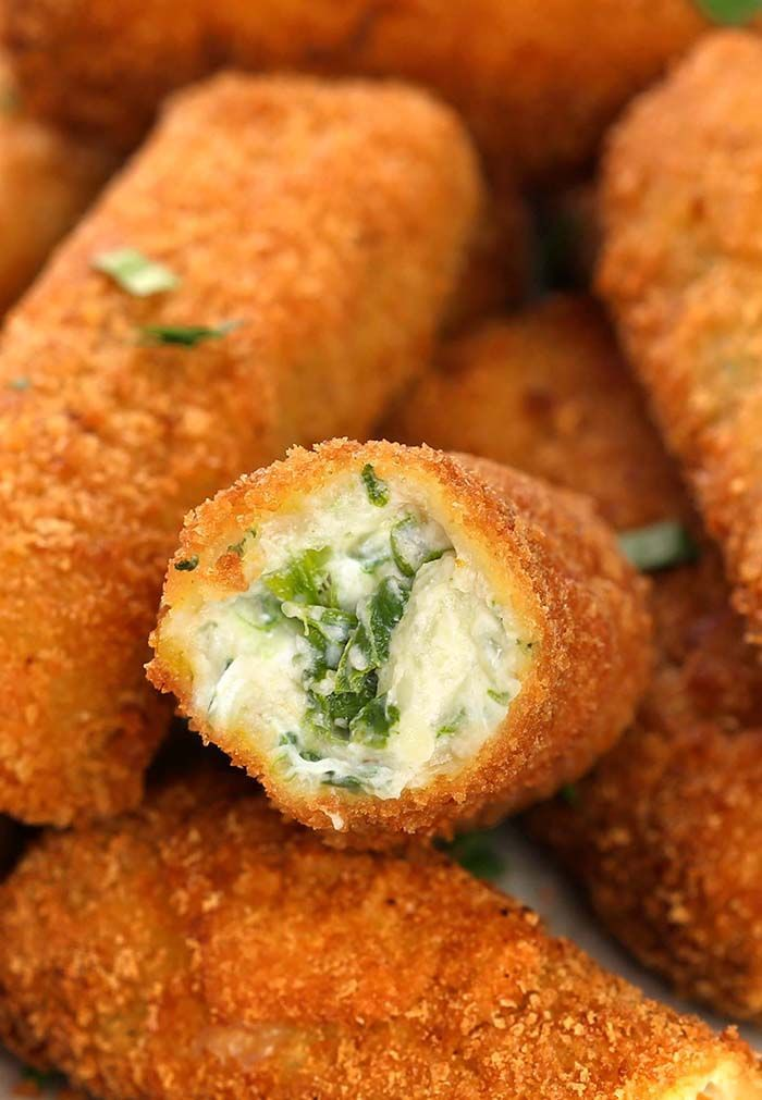 Easy Spinach Dip Cheese Sticks
