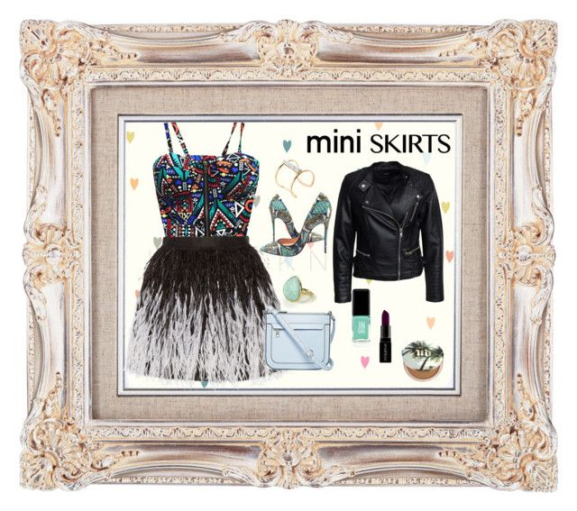 """#miniskirt"" by tinaradu on Polyvore featuring Alice + Olivia, Christian Louboutin, Feather & Stone, Soo Ihn Kim, Sisters Point, Liz Claiborne, Jin Soon, Smashbox and Urban Decay"
