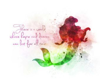 Ariel The Little Mermaid inspired Quote ART PRINT by SubjectArt
