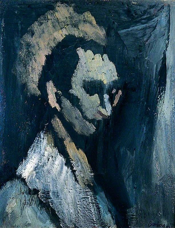 Man's Head 1937  David Bomberg, 1890-1957, (Vorticism, Futurism, Cubism)