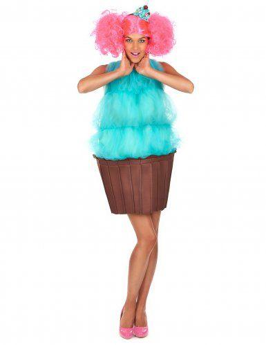 Déguisement cupcake turquoise femme, Enterrement de vie de jeune fille (EVJF) fun et pas vulgaire