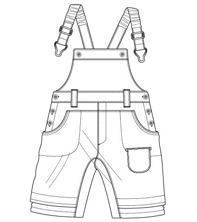 Baby Boy Overall Coloring Pages