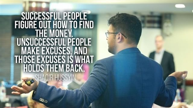 Successful people figure out how to find the money. Unsuccessful people make excuses, and those excuses is what holds them back https://www.instagram.com/p/BSt-Og2hA7S/