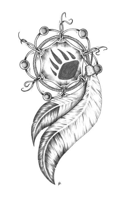 Dream catcher drawing. I love the bear paw in the middle | hippie | Pinterest | Beautiful, The o ...