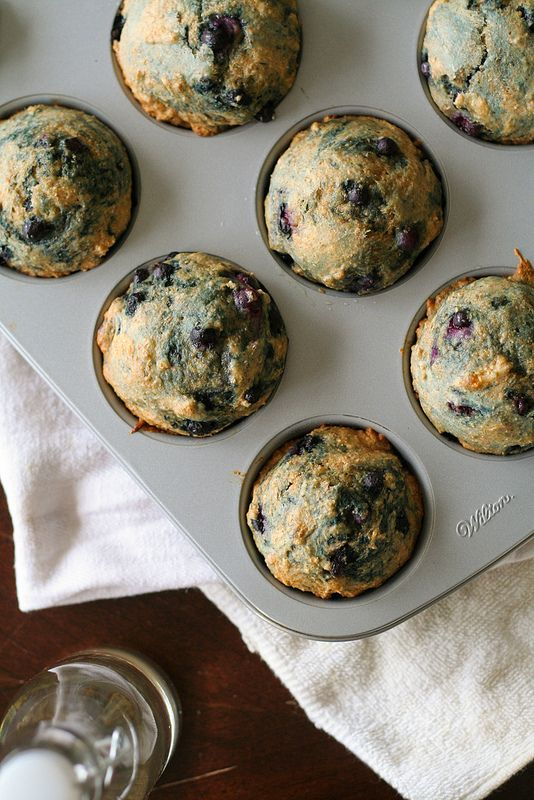 Healthy Whole Wheat Blueberry Muffins | Breakfast Yums | Pinterest