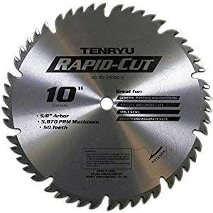 "Rs-25550-2 10"" X 50t Combo Carbide - Wood (For Table Saws) - Circular Saw Blades - Amazon.com"