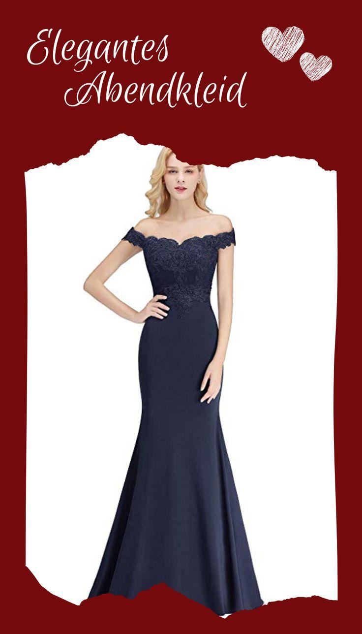 Elegantes off shoulder Meerjungfrau Kleid aus hochwertigem Chiffon