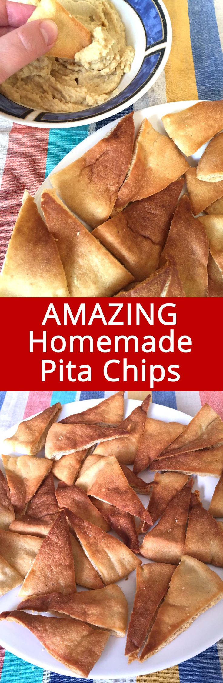These homemade baked pita chips are amazing! So easy to make and so yummy! I'll never buy store-bought pita chips ever again!