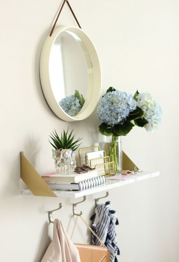 front entryway // 13 Ingenious Storage Hacks for Your Small Entryway
