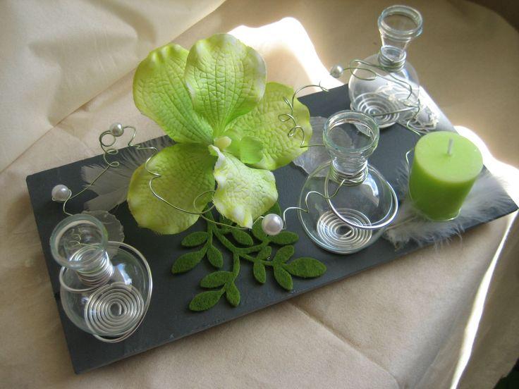 soliflore boule centre de table ardoise art de la table pinterest tables and centre. Black Bedroom Furniture Sets. Home Design Ideas