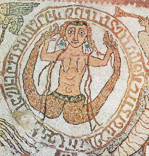 Two-tailed siren. Mosaic ca. 1163-1165