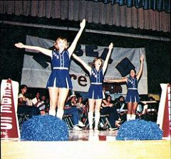Fort Worth Southwest High School  1981 Cheerleaders (texasretrocheer2) Tags: white socks high shoes cheerleaders 70s cheerleader 1970s knee saddle kneesocks saddleshoes whitekneesocks