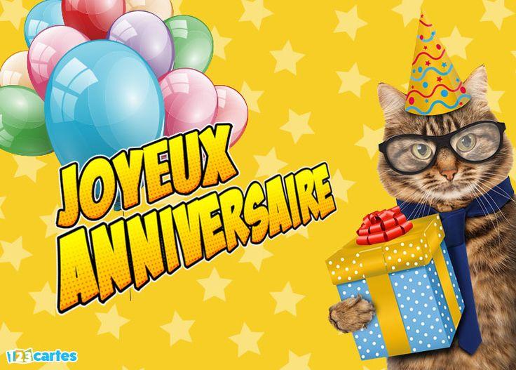 Extrêmement Les 25 meilleures idées de la catégorie Joyeux anniversaire chats  RA84