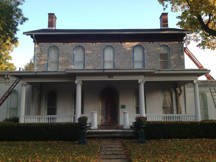 The restoration process at the Havilah Beardsley House in Elkhart, IN