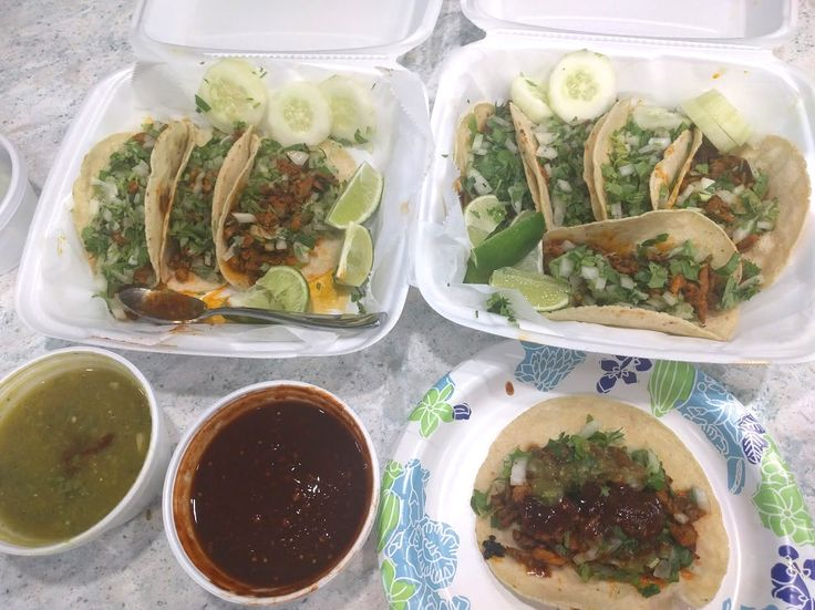 Tacos Al Pastor - El Huarache Azteca (Dunedin FL) #tacos #food #foodporn #TacoTuesday #mexican #mexicanfood #Mexico #foodie #burritos #yum #dinner