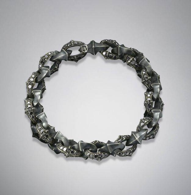 Fancy - Armory Bracelet w/ Pave Black Diamonds