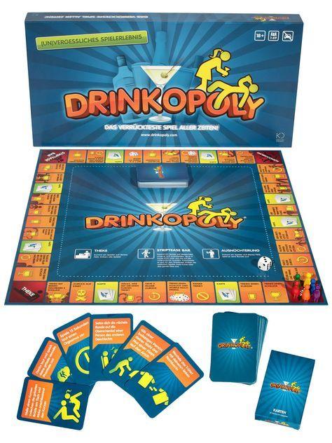 Mit diesem großartigen Drinkopoly Party-Trinkspiel wird die JGA-Party zum feucht-fröhlichen Event der Spitzenklasse. Ein wirklich tolles Partyspiel, welches sowohl für Junggesellen- als auch Junggesellinnenabschiede perfekt geeignet ist