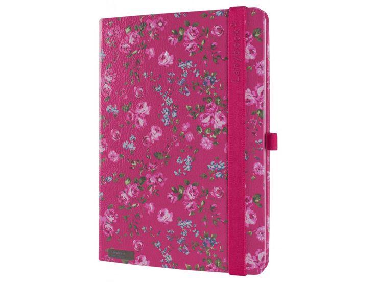 Luxusní dámský zápisník na poznámky s romantickým motivem růží.