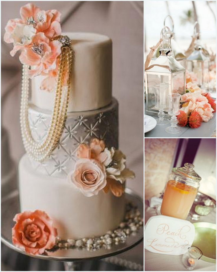 peach white and silver wedding cake 101 best my vintage wedding images on wedding 18154