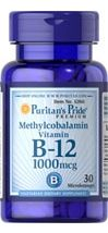 Puritan's Pride Methylcobalamin List of symptoms with low B - 12, nails, hair loss, skin patches, tiredness, concentration difficulties, memory loss, chronic fatigue, rigid muscles, incontinence, speech(finding words), numbness in hands and feet, muscles jumping