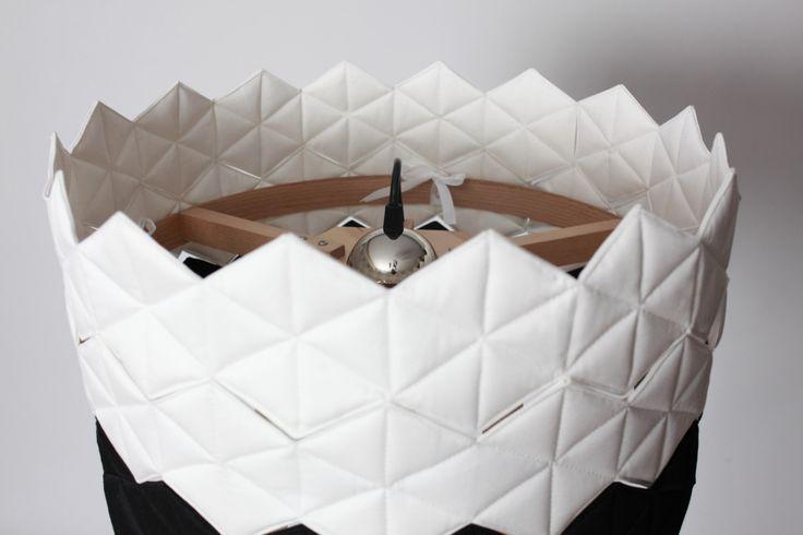black&white cotton lampshade  |  by NIE/BO DESIGN