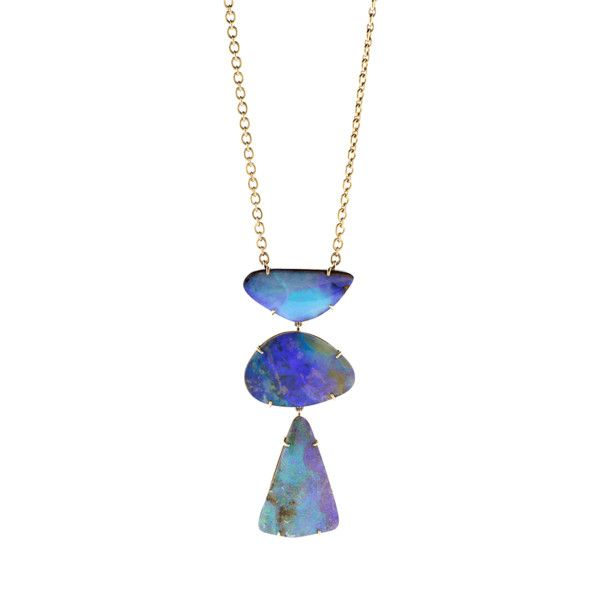 Irene Neuwirth Jewelry Boulder Opal Diamond Heart Necklace ($26,520) ❤ liked on Polyvore featuring jewelry, necklaces, pendant necklaces, pave diamond heart necklace, opal necklace, heart pendant and diamond heart pendant