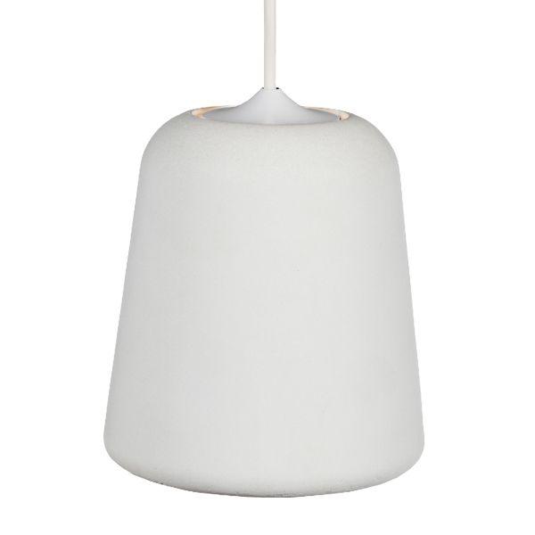 Material valaisin, valkoinen betoni