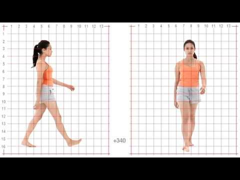 Animation Reference - Female Standard Walk - Grid Overlay