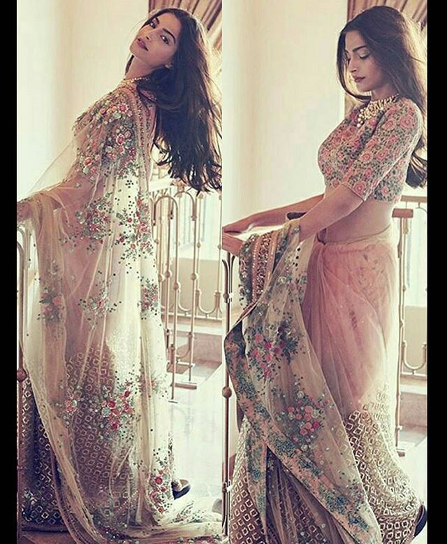 Sonam Kapoor Sizzles in latest cover shoot for Bazaar Bride India. Outfit by ~ #sabyasachi Jewellery by ~ #KalyanJewellers Styled by ~ @divyakdsouza @BOLLYWOODREPORT !