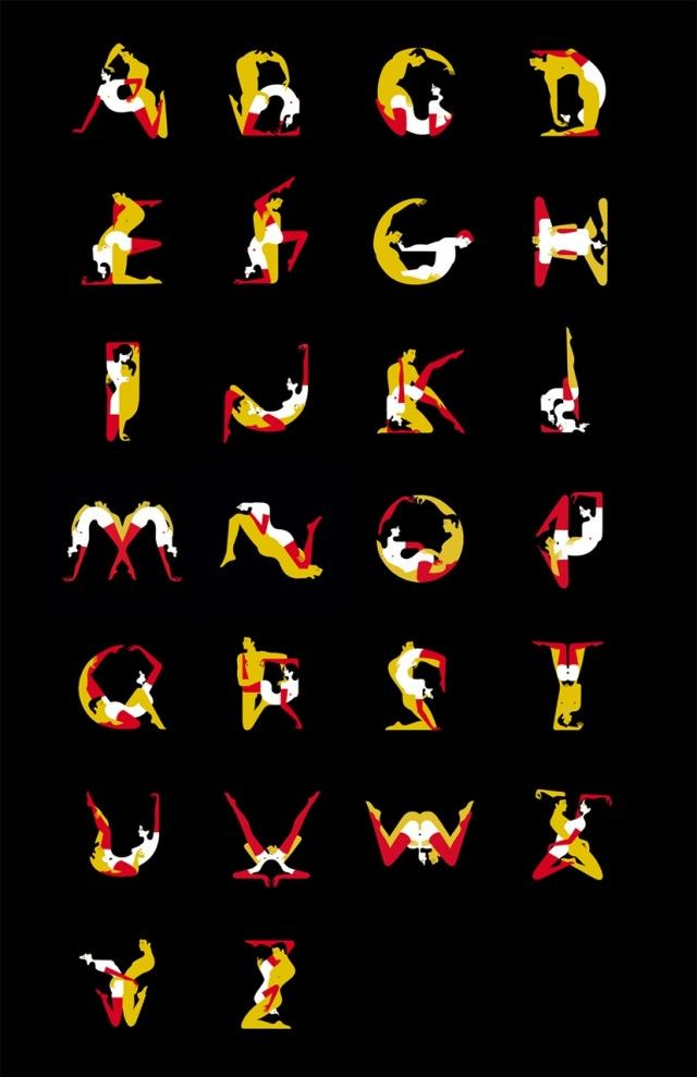 The Kama Sutra Alphabet  Le Kama Sutra Alphabet est un projet personnel de l'illustratrice française basée à Londres, Malika Favre. Reprenant visuellement chaque lettre de l'alphabet en utilisant des couples en pleine union, des impressions sont présentées du 18 au 28 avril à la Somerset House de Londres.