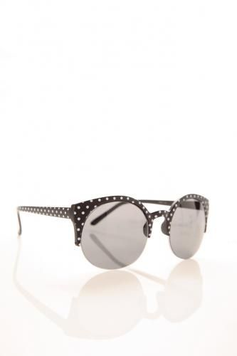 Polka Dot Round Frame Sunglasses