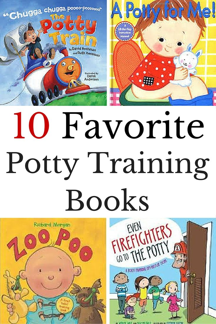 Favorite potty training books to help kids get use to the idea of using the potty.