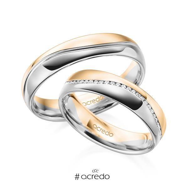 Alianzas De Boda Con Diamantes De Dos Oros Diferentes Opciones En Oro Oro Blanco Platino Oro Rosa Anillos De Boda Alianzas De Oro Blanco Alianzas De Boda