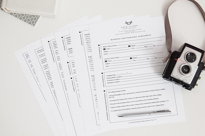 Complete Legal Wedding Contract Best Wedding photography - photography services contract