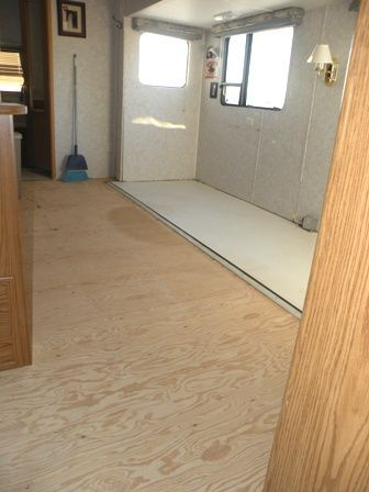 RV Remodeling Demolition is the first step in an RV Remodel: