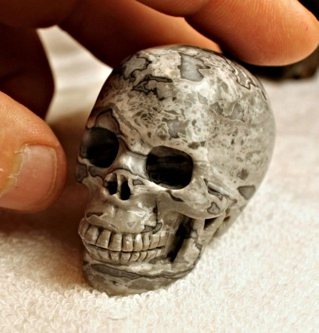 467.5 Carat Jasper Skull Carving AMAZING GEMSTONE SKULL CARVING, GEMSTONE CARVING