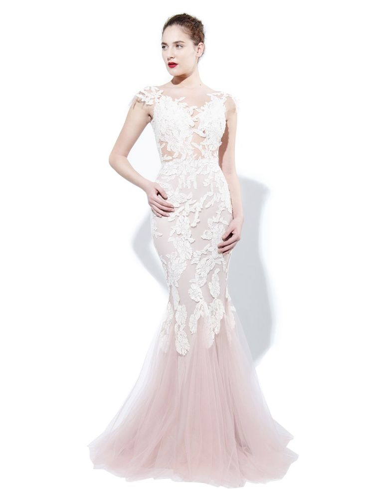 LACE AND TULLE DRESS - Rhea Costa-Shop