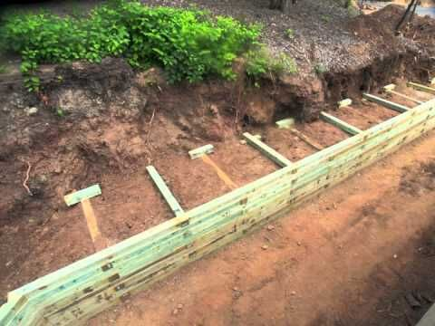 How To Install A Timber Retaining Wall Landscaping Ideas And