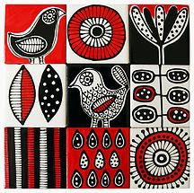Jocelyn Proust Designs, pattern design, hand painted tiles   wall tiles