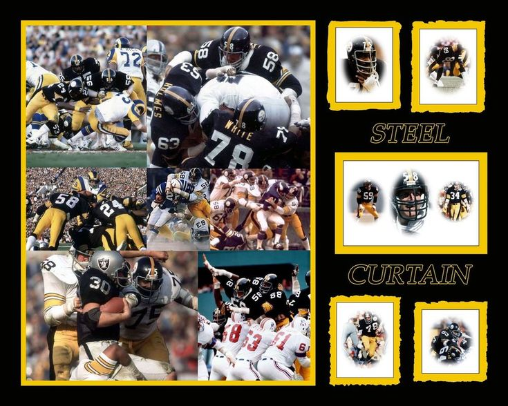 Pittsburgh Steelers Steel Curtain 8 x 10 Player Photo Collage #PittsburghSteelers