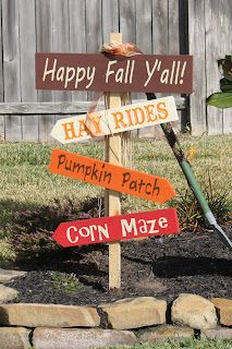 Crafty Endeavors: Fall Yard Stake
